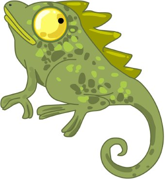 Cameleon clipart #2, Download drawings