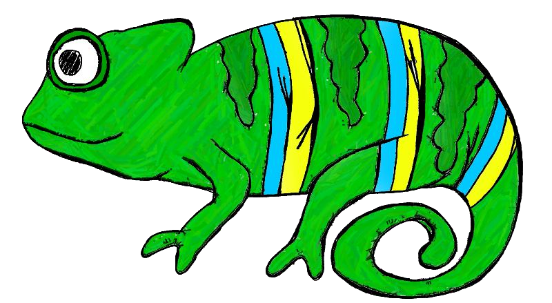 Cameleon clipart #6, Download drawings