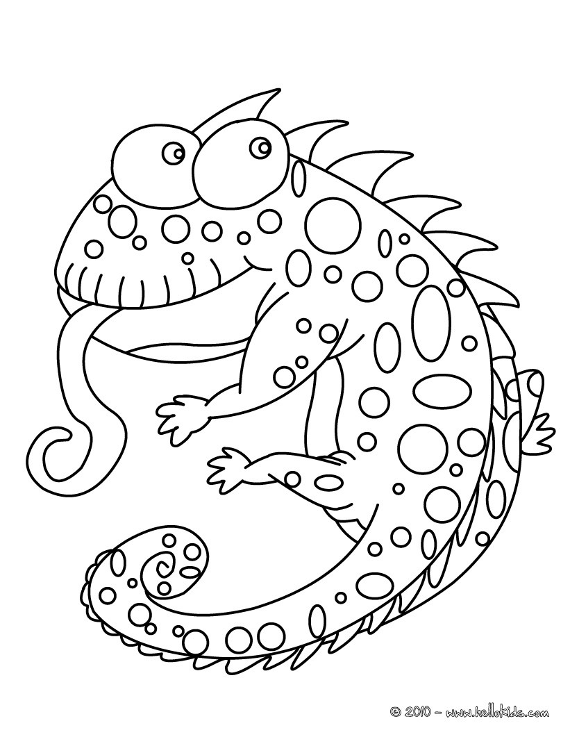 Chameleon coloring #15, Download drawings