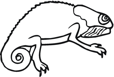 Chameleon coloring #8, Download drawings