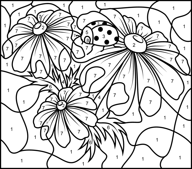Camomile coloring #12, Download drawings
