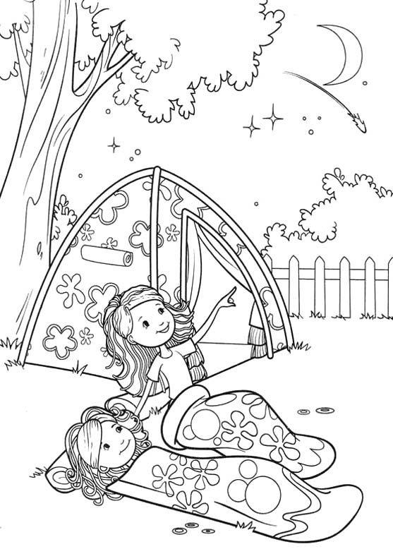 Camp coloring #15, Download drawings