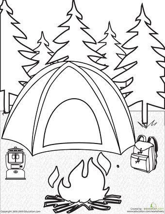 Camp coloring #14, Download drawings