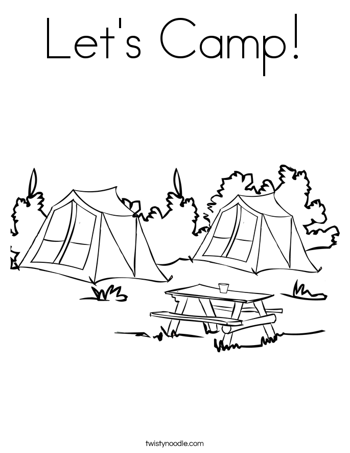 Camp coloring #5, Download drawings