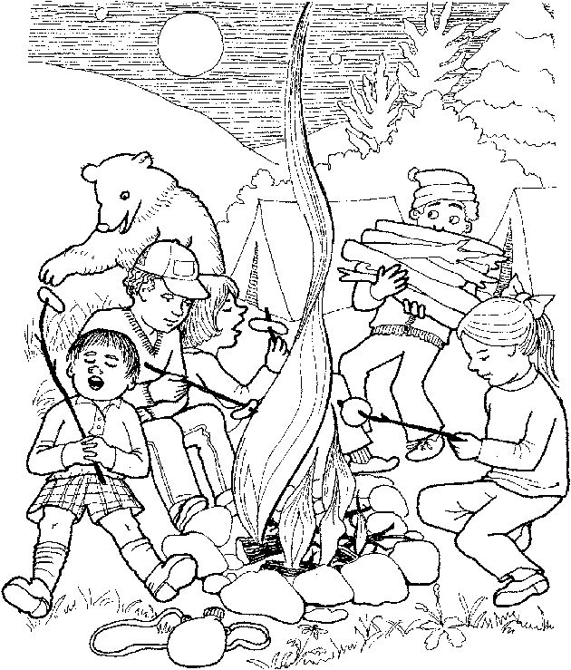 Camp coloring #1, Download drawings