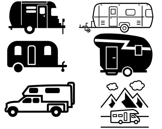 camper svg #1189, Download drawings