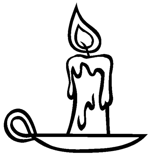 Candle coloring #14, Download drawings