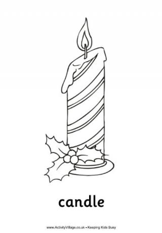 Candle coloring #10, Download drawings