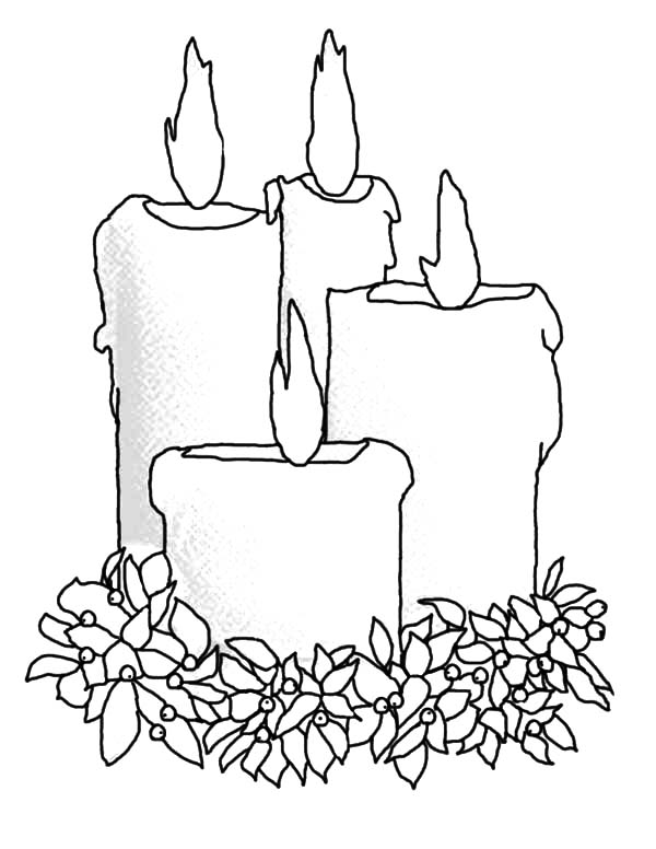 Candle coloring #7, Download drawings
