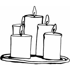 Candle coloring #9, Download drawings