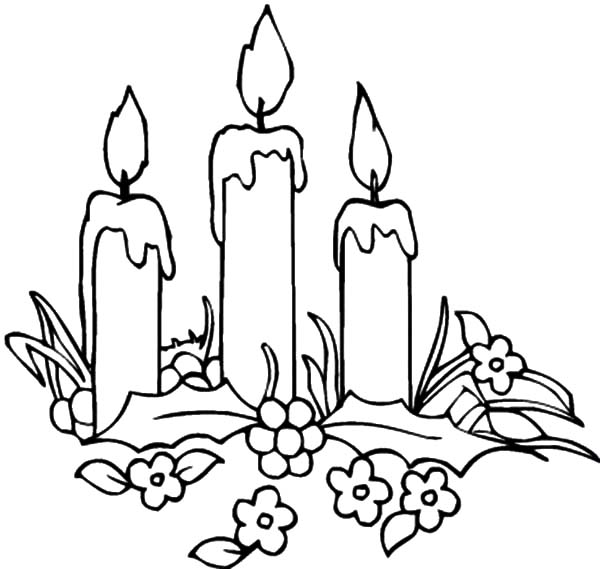 Candle coloring #6, Download drawings