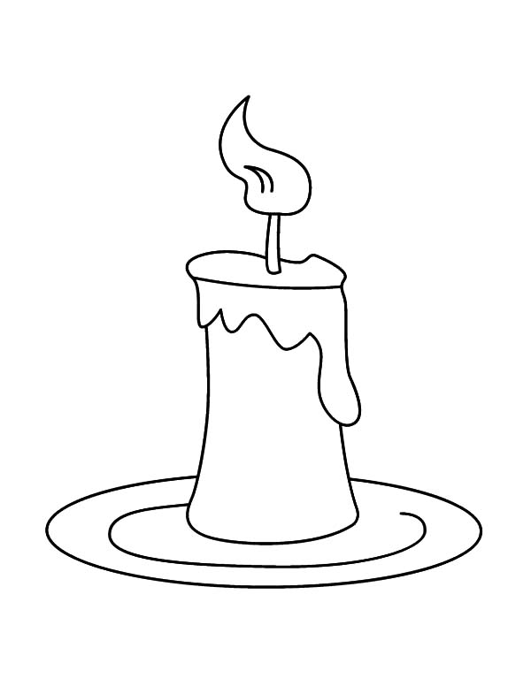 Candle coloring #11, Download drawings