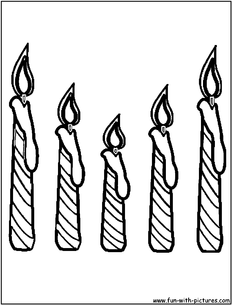 Candle coloring #2, Download drawings