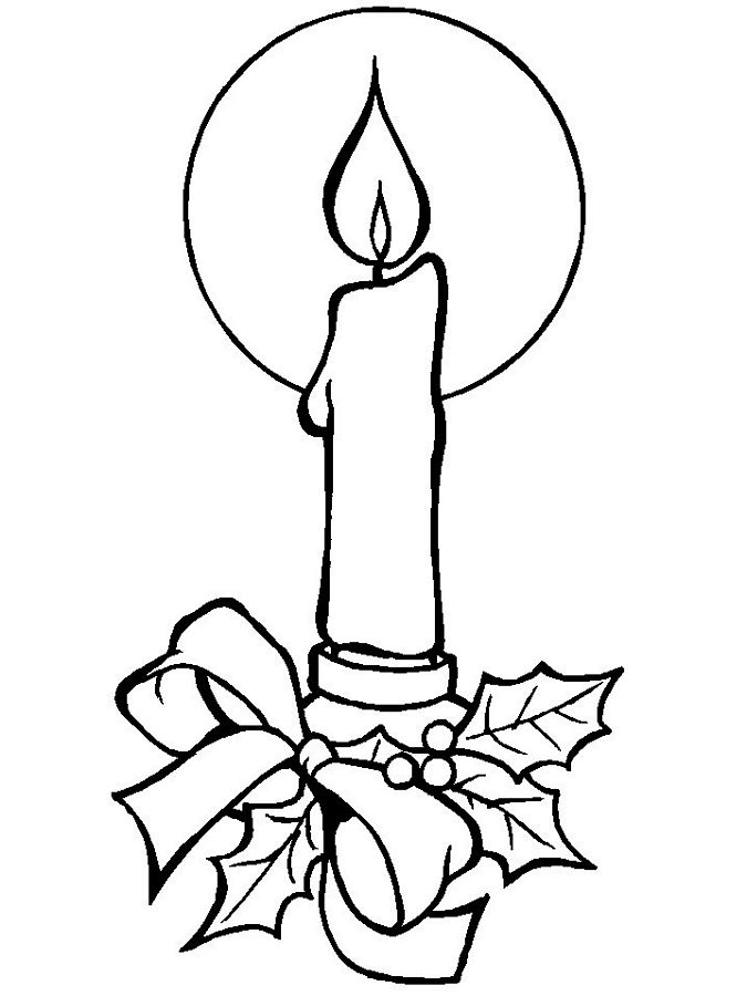 Candle coloring #19, Download drawings