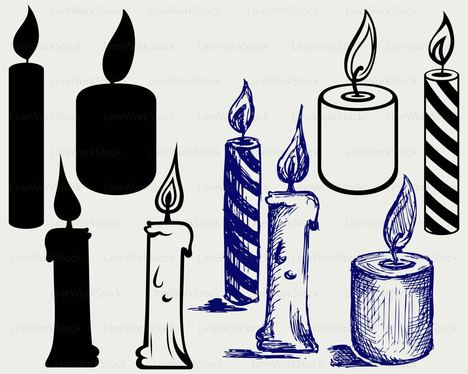 Candle svg #14, Download drawings