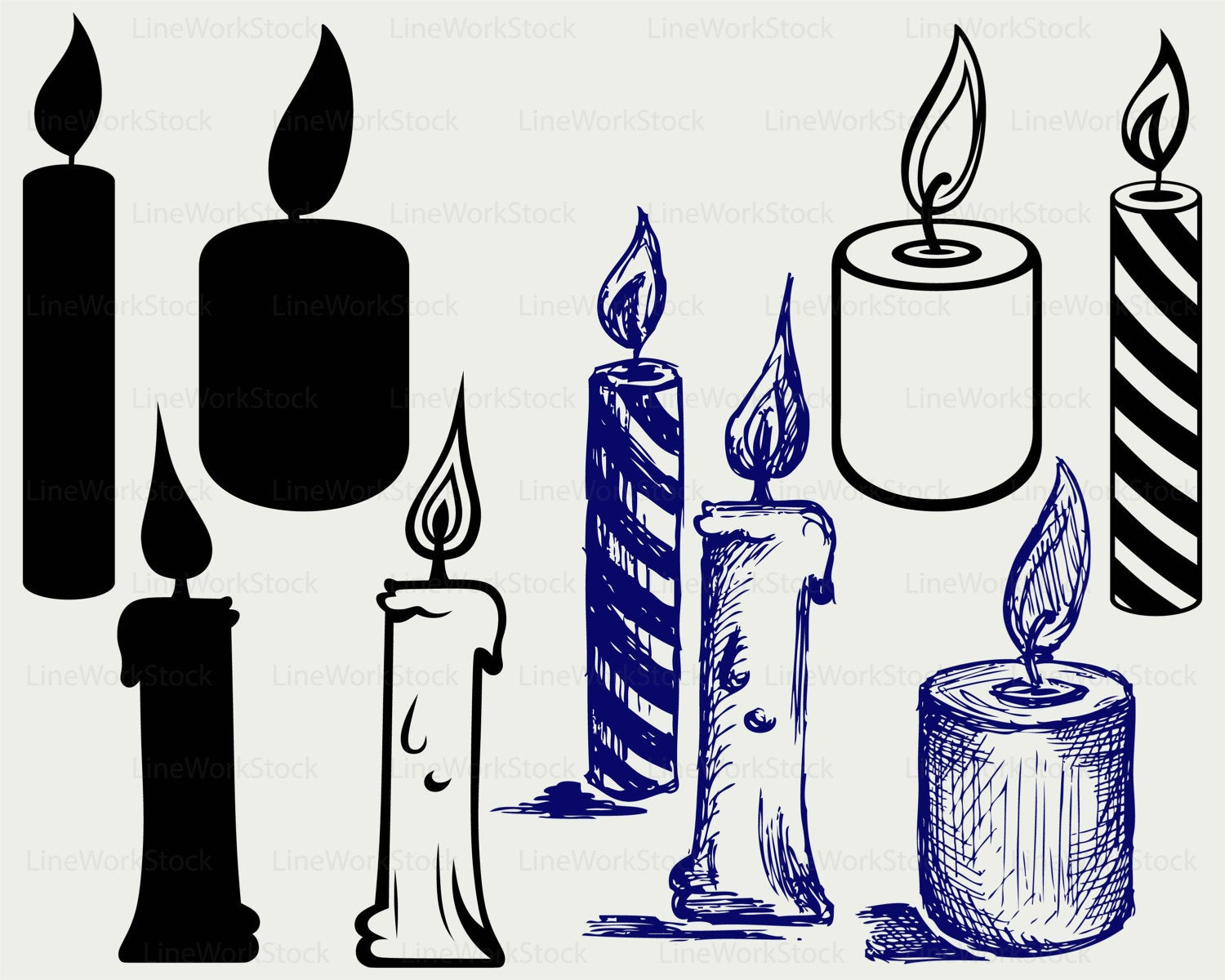 Candle svg #521, Download drawings