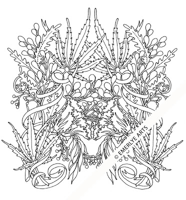 Cannabis coloring #8, Download drawings