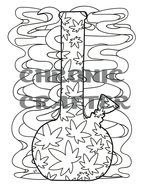 Cannabis coloring #9, Download drawings