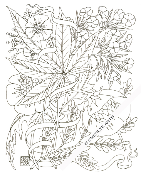 Cannabis coloring #17, Download drawings