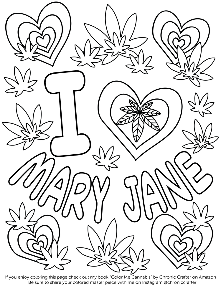Cannabis coloring #10, Download drawings