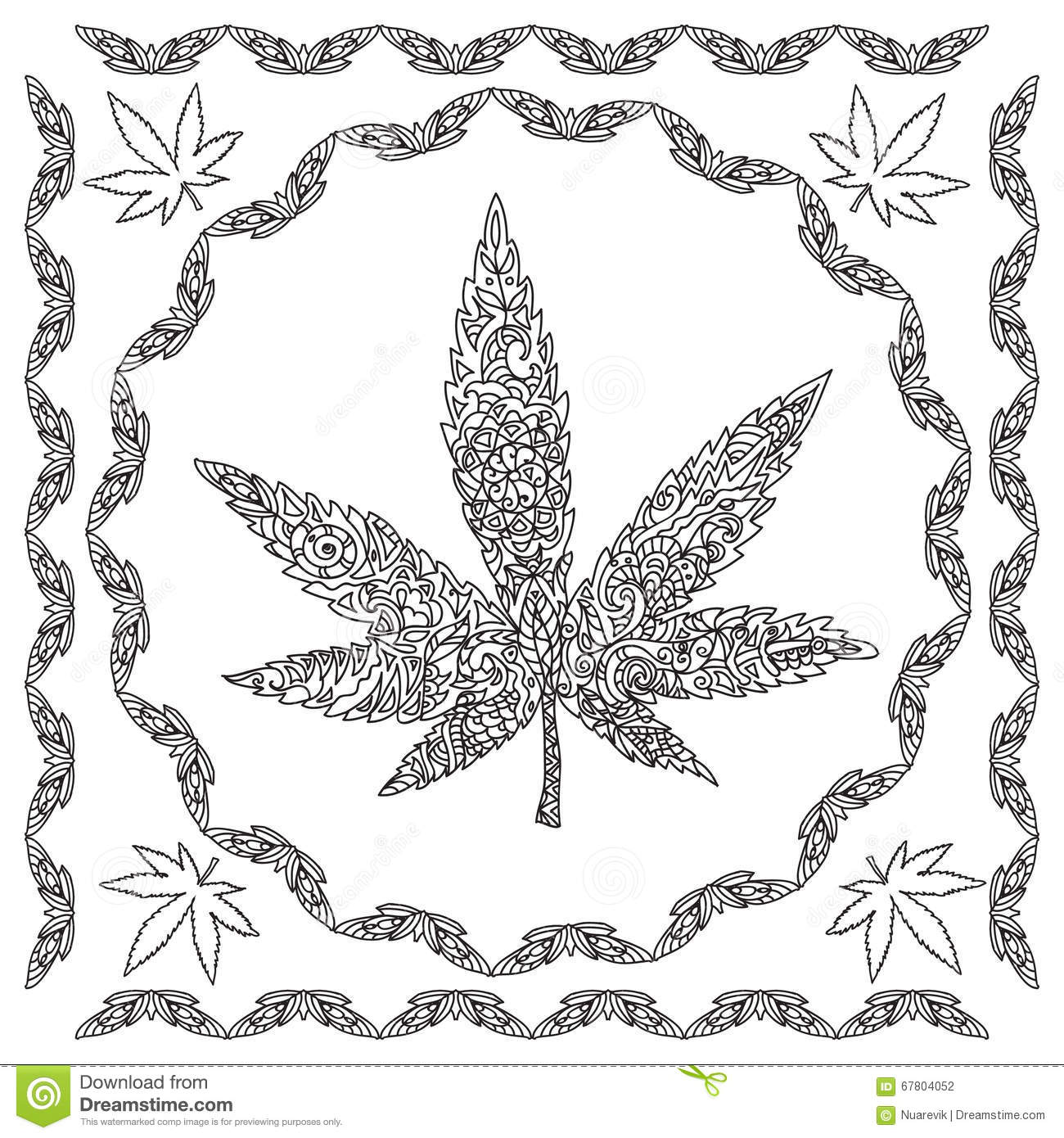 Cannabis coloring #18, Download drawings