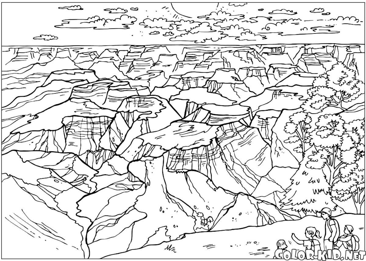 Grand Canyon coloring #16, Download drawings
