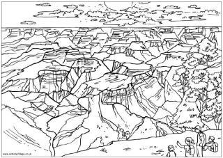 Grand Canyon coloring #13, Download drawings
