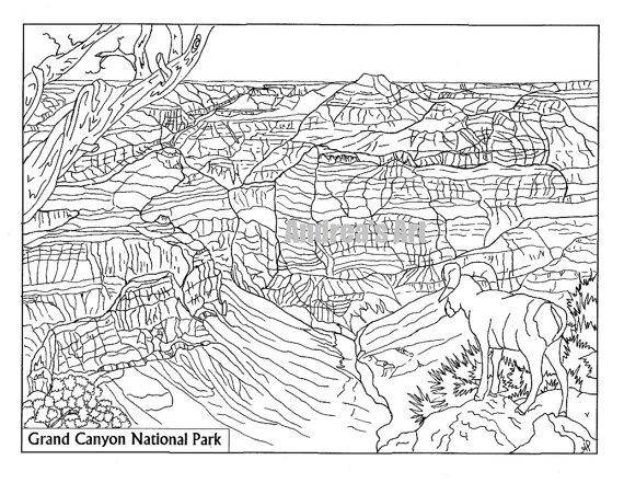 Grand Canyon coloring #12, Download drawings