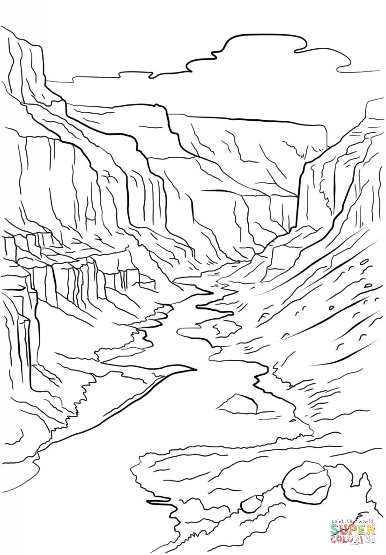 Grand Canyon coloring #11, Download drawings