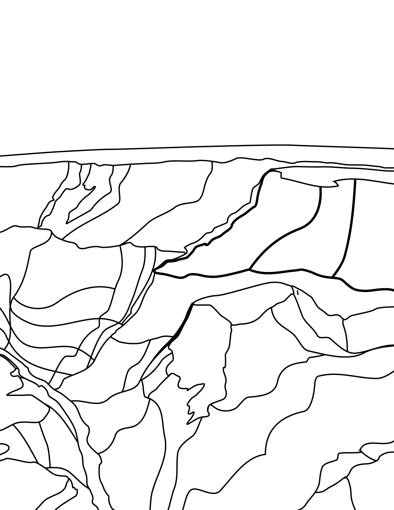 Grand Canyon coloring #4, Download drawings