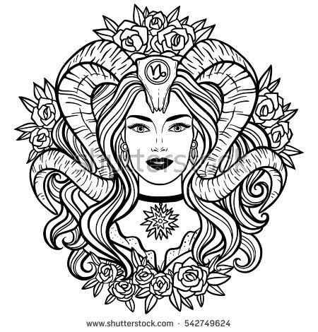 Capricorn  (Astrology) coloring #9, Download drawings
