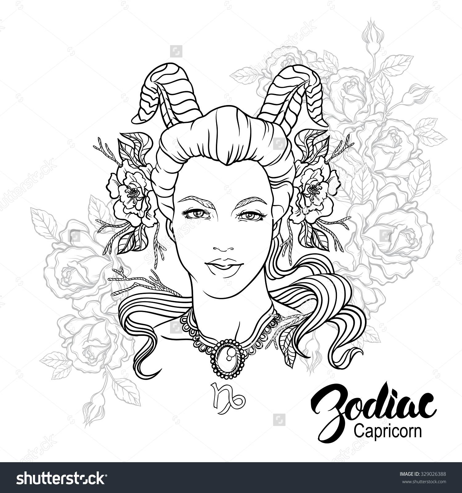 zodiac coloring pages - capricorn astrology coloring download capricorn