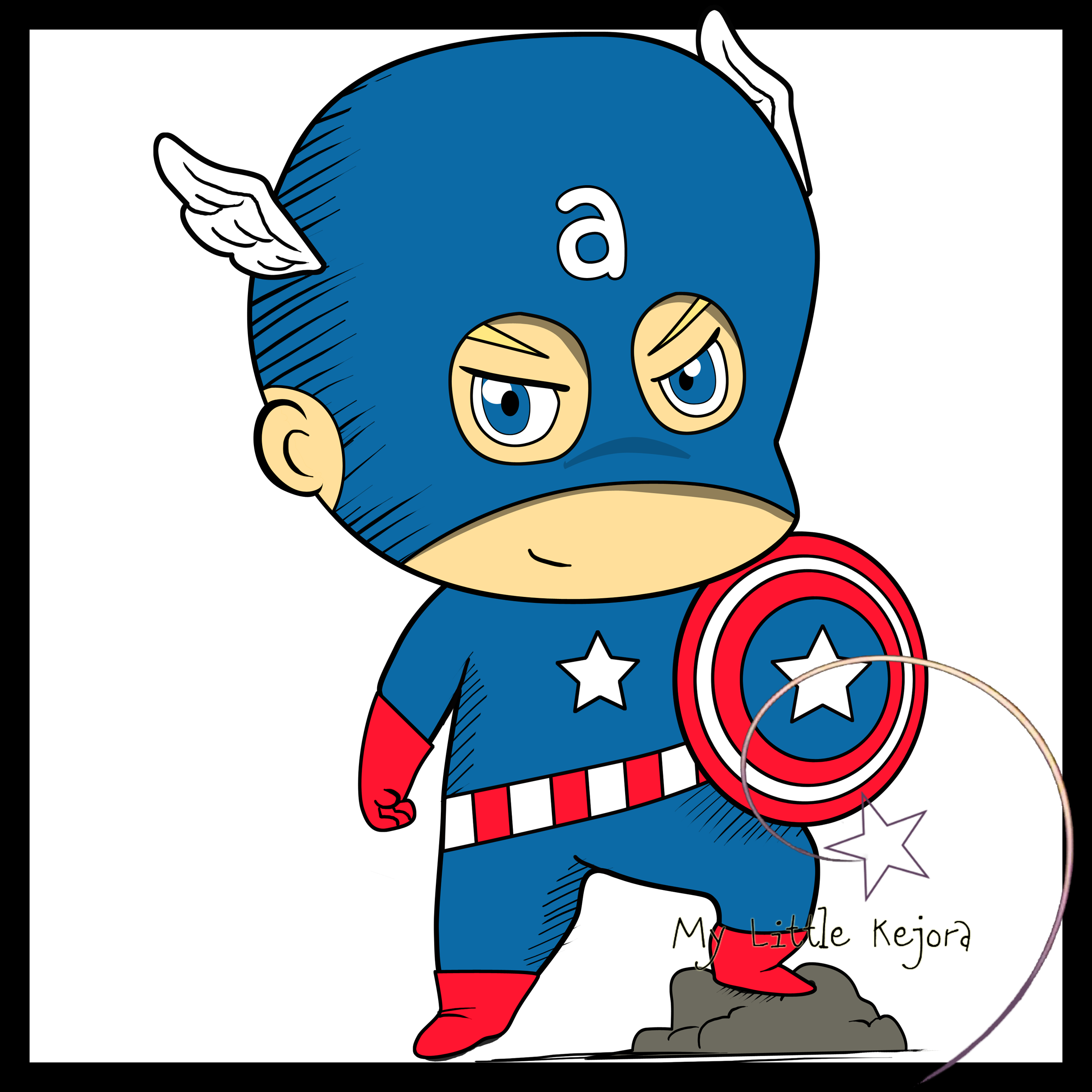 Captain America clipart #2, Download drawings