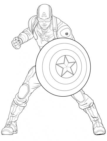 Captain America coloring #16, Download drawings