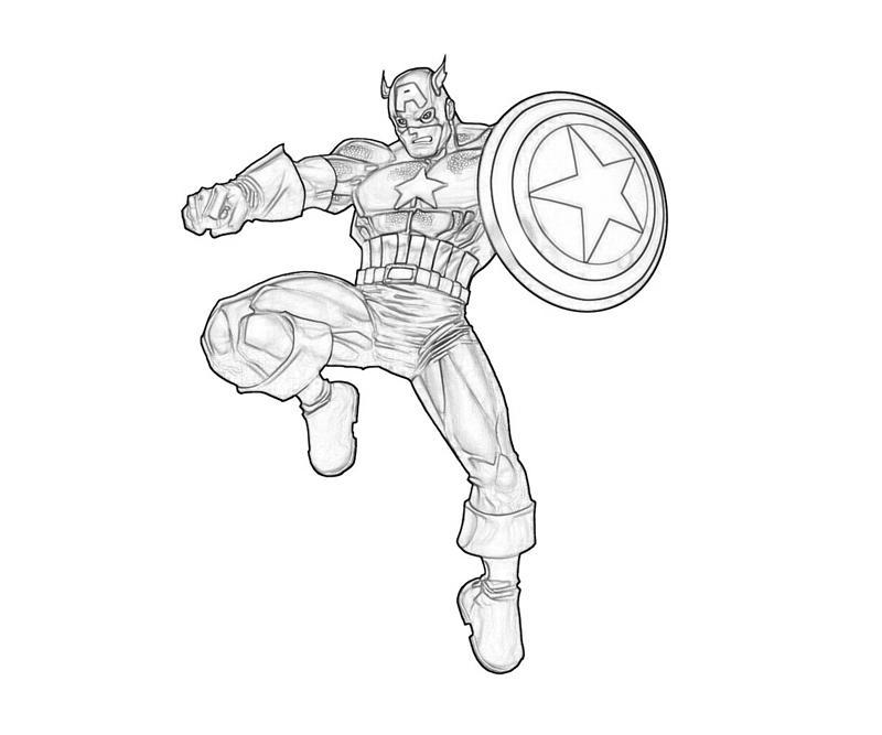 Captain America coloring #19, Download drawings