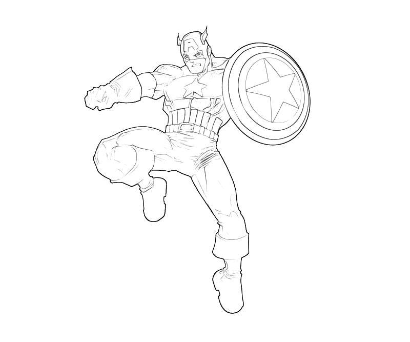 Captain America coloring #18, Download drawings