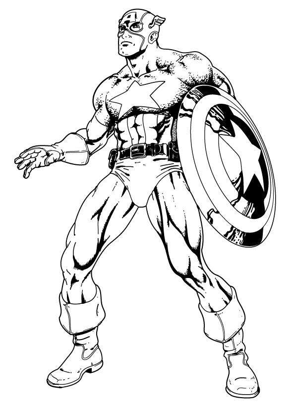 Captain America coloring #15, Download drawings