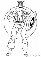 Captain America coloring #10, Download drawings
