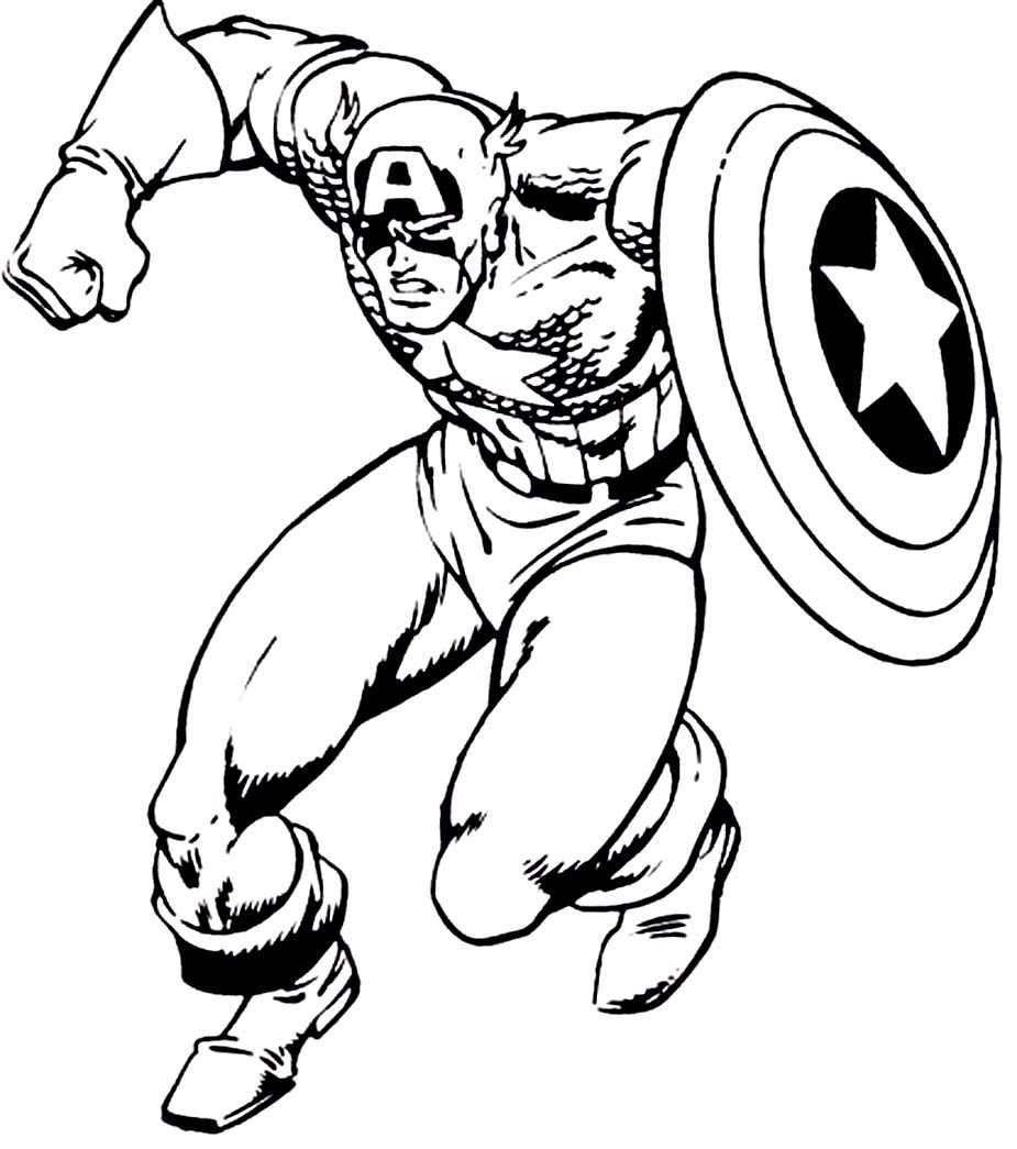 Captain America coloring #13, Download drawings