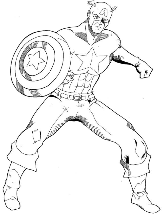 Captain America coloring #11, Download drawings