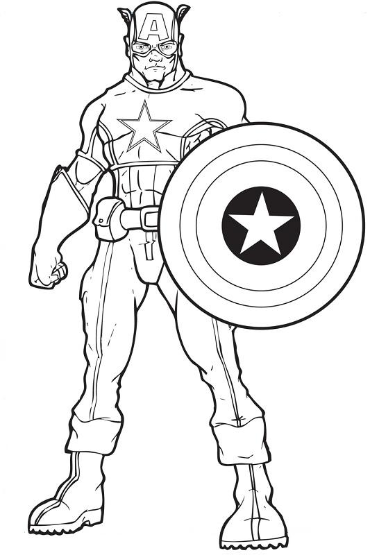 Captain America coloring #12, Download drawings