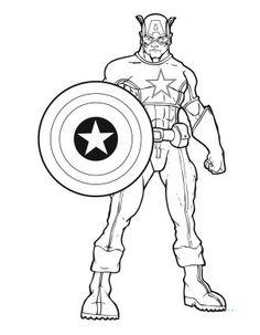 Captain America coloring #2, Download drawings