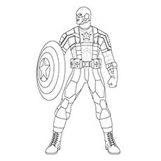 Captain America coloring #14, Download drawings