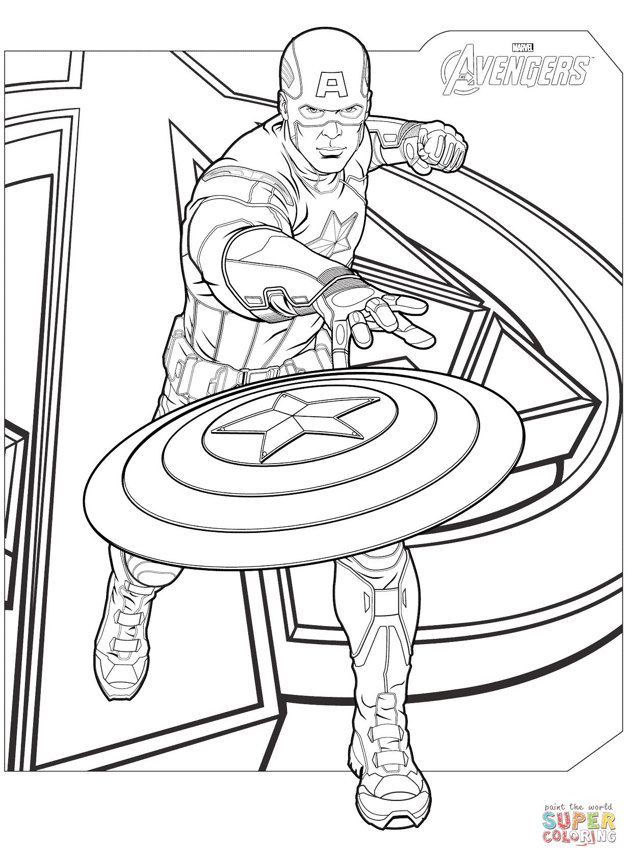 Captain America coloring #6, Download drawings