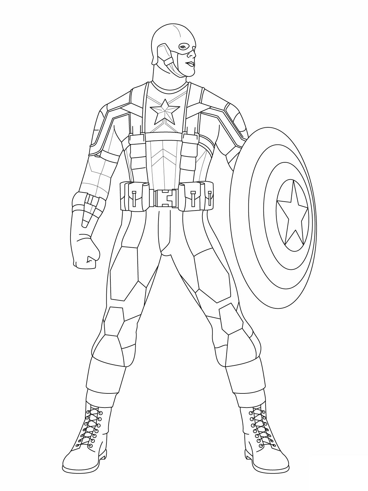 Captain America coloring #20, Download drawings