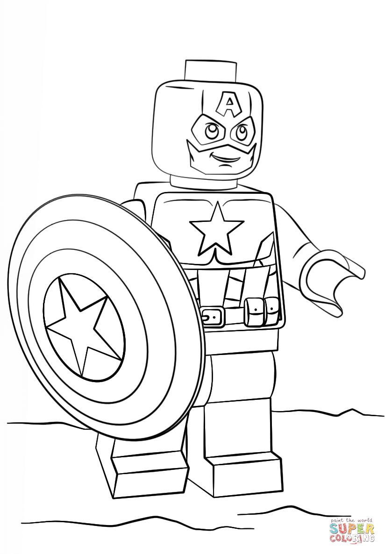 Captain America coloring #8, Download drawings