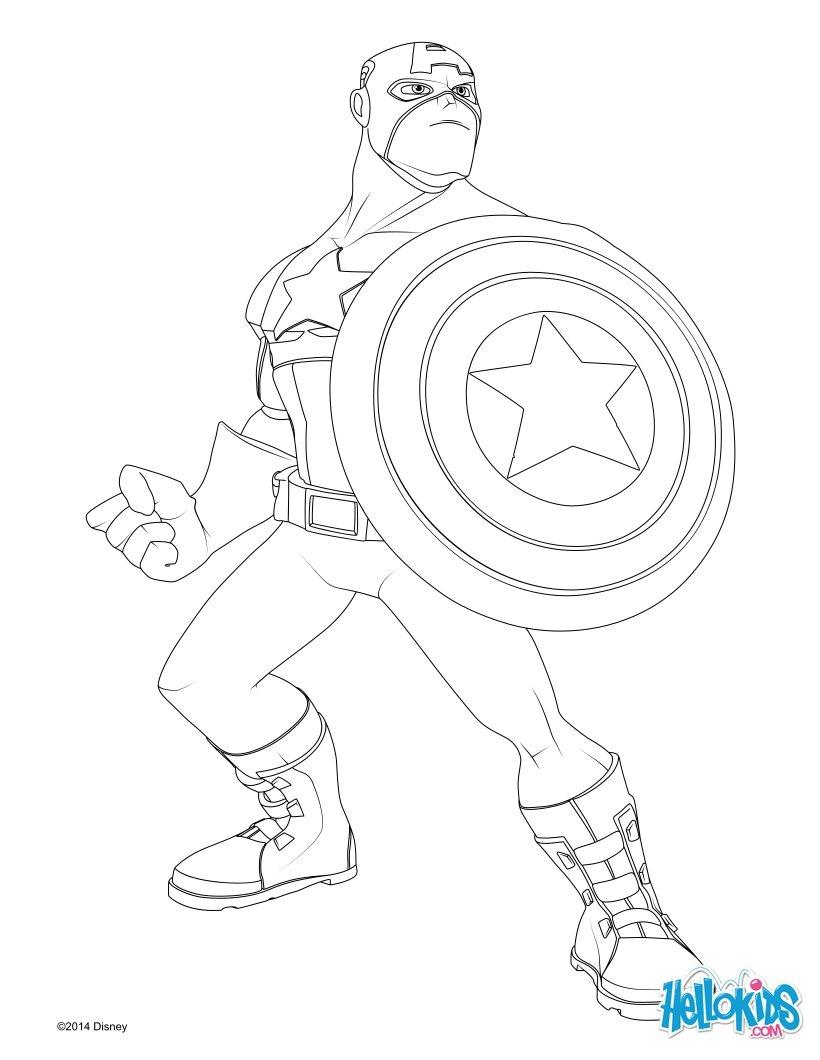 Captain America coloring #7, Download drawings