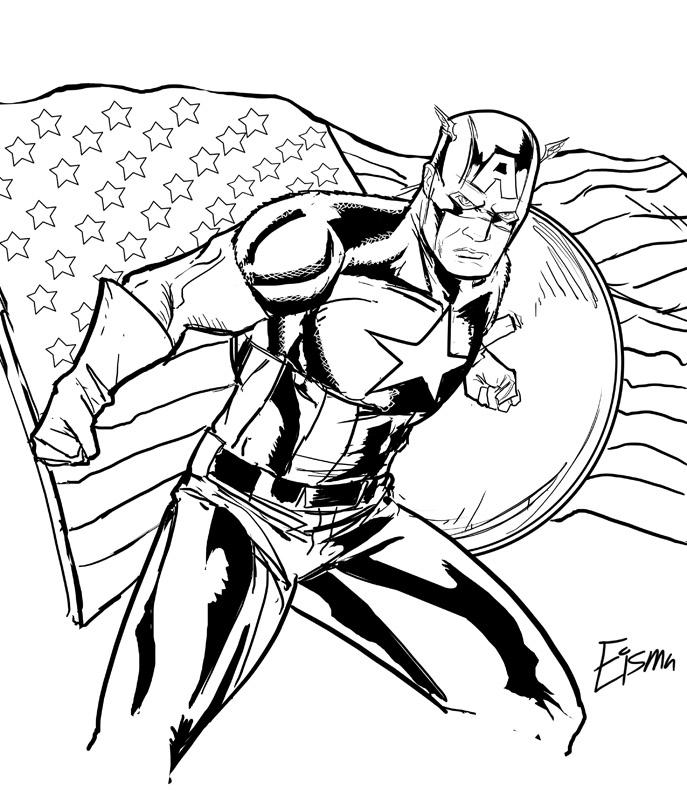 Captain America coloring #4, Download drawings
