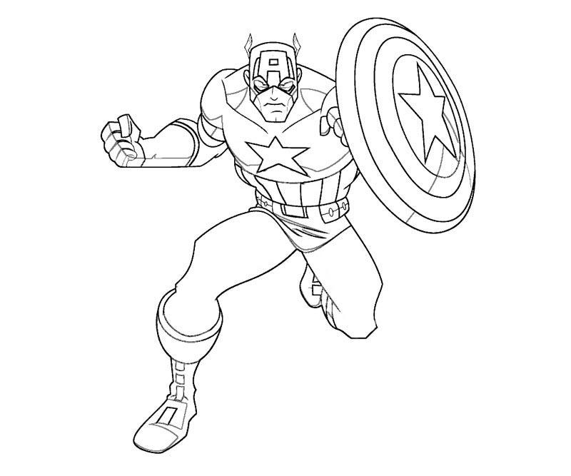 Captain America coloring #17, Download drawings