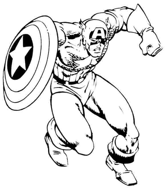 Captain America coloring #5, Download drawings
